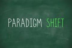 Paradigmförskjutning som är handskriven på svart tavla Royaltyfri Fotografi