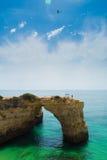 Paradijs in algarve Stock Foto's