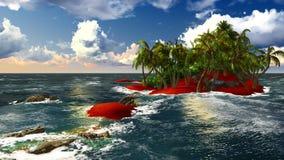 Paradijs op het Eiland van Hawaï stock foto's