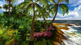 Paradijs op het Eiland van Hawaï stock fotografie