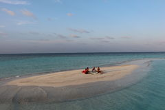 Paradijseiland op de Maldiven Royalty-vrije Stock Afbeelding