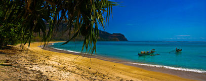 Paradijselijk Strand Royalty-vrije Stock Afbeeldingen