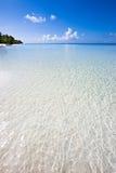 Paradijsstrand in de Indische Oceaan Royalty-vrije Stock Foto