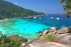 Paradijsstrand van Similan-eilanden, Thailand Stock Foto's