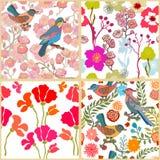 Paradijstuin Het patroon van de zijdesjaal met bloemen, bladeren en ventilator stock illustratie