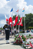 Parading navy seaman Gdynia Royalty Free Stock Photos