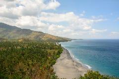 Paradis à la plage aan de tanjung, Indonésie Image stock