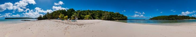Paradis Crystal Water Landscape de Polynésie Photos stock