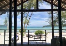 Paradis d'une hutte de plage Image stock