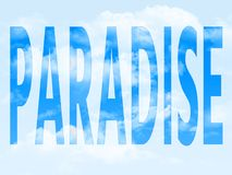 Paradis dans le symbole image stock