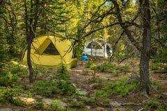 Paradis de campeurs Photographie stock libre de droits