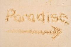 Paradis de cette façon images libres de droits