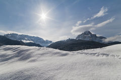 Paradis de l'hiver Image libre de droits