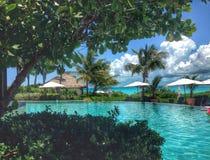 Paradis de piscine Images stock