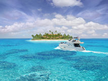 Paradis des Caraïbes Images libres de droits