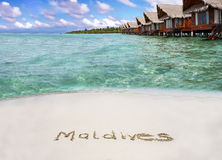 Paradis des Maldives photos stock
