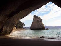 Paradis dold strand Fotografering för Bildbyråer
