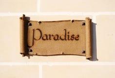 Paradis du relevé de signe Image stock