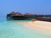 Paradis en Maldives photo stock