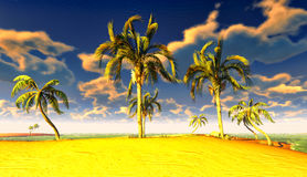 Paradis hawaïen Photographie stock