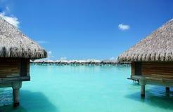 Paradis i Bora Bora Arkivfoto