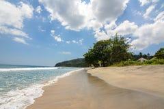 Paradis på lombokstranden, indonesia Arkivfoto