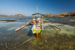 Paradis på lombokstranden, indonesia Arkivfoton
