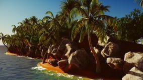 Paradis sur le rendu de l'île 3d d'Hawaï Photo stock