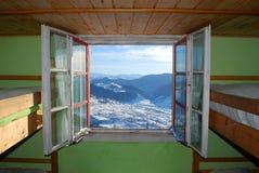 paradis till fönstret Arkivbild