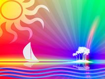 Paradis tropical illustration stock