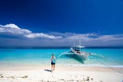 Paradis tropical d'île Photo stock