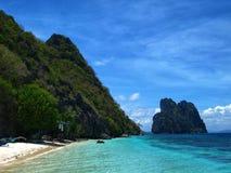 Paradisaic wyspy zatoka na Filipiny zdjęcie royalty free
