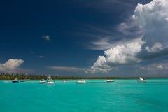 Paradise. Tropical islands in Caribbean sea (Dominican republic Stock Photo