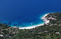 Paradise. Lonely beach at the Adriatic sea Stock Images