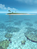 Paradise. Beautiful island in the middle of the ocean Royalty Free Stock Photos