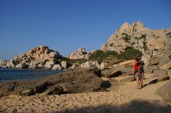 Paradise. Beautiful coast of Cala Spinosa, Sardinia, Italy Royalty Free Stock Photo