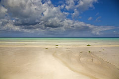 Paradise. Low tidein Nungwi beach in Zanzinar Royalty Free Stock Photos