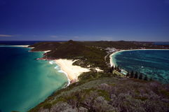 Paradise. View from the top of the mountain, Port Stephens, Australia Royalty Free Stock Photos