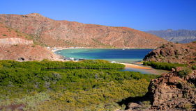 Paradise. Beaches near the town of Loreto, in baja california sur, mexico Stock Image