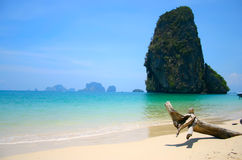 Paradise. Exotic beach in southern Thailand stock image