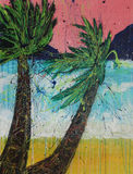 Paradise, acrylic painting painting by photographer Royalty Free Stock Photography