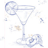 Paradise alcoholic cocktail on a notebook page Royalty Free Stock Images