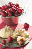 Paradise apples baked in pastry, in shape of bags. Christmas baking Royalty Free Stock Photo