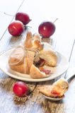 Paradise apples baked in pastry, in shape of bags Royalty Free Stock Images