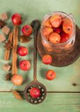 Paradise apples on the wooden table Royalty Free Stock Images