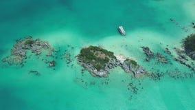 Paradise, Atlantic Ocean, Tropical Beach, Beautiful Landscape, Rocky Reefs, Aerial Shoot, Islands Of Bermuda Stock Image