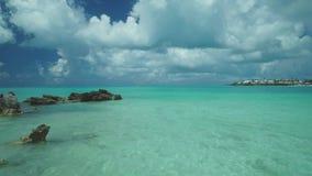 Paradise, Atlantic Ocean, Tropical Beach, Islands Of Bermuda, Rocky Reefs, Aerial Shoot, Beautiful Landscape Stock Images