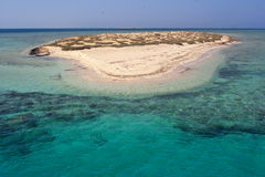 Paradise Atoll of Qulaan islands in Egypt Red sea Royalty Free Stock Photo
