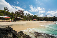 Paradise at bali beach, indonesia Stock Images
