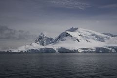 Paradise Bay, Antarctica. Paradise Bay on an calme day, Antarctica royalty free stock photography